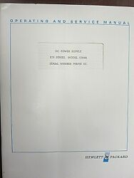 Hp Dc Power Supply Ics Series 6384a Operating And Service Manual 06384-90001