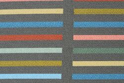 Vintage MCM Maharam Upholstery Home Fabric Brim Candy Geometric Lines 2.1 yds