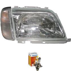 Headlight Right Mercedes Sl-class R129 Year 92-01 With Indicator White H4