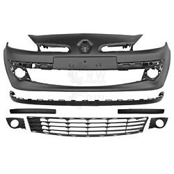 Set Bumper Front + Accessories For Renault Clio Year 05-09