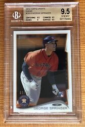 George Springer 2014 Topps Update Clear Bgs 9.5 /10 Acetate Rc Blue Jays Ws Mvp