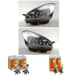 Headlight Set Citroen C4 Picasso Year 02/07-08/10 H7/h1 With Motor 56749029