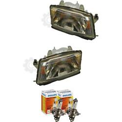 Halogen Headlight Set Saab 9-3 98-03 H4 Without Motor Incl. Philips Lamps Uxt