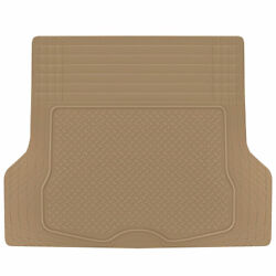 All Weather Heavy Duty Beige Rubber Trunk Mats For Cars Fits Suv Van Cargo Liner