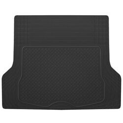 All Weather Heavy Duty Black Rubber Trunk Mats For Cars Fits Suv Van Cargo Liner