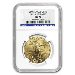 2009 1 Oz Gold American Eagle Ms-70 Ngc Early Releases - Sku 59194