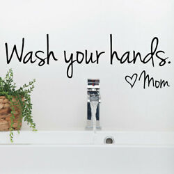 Wash your Hands Mom Bedroom Wall Sticker For Home Decoration Wall Decal black