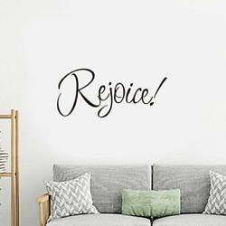 Rejoice Christian Bedroom Wall Sticker For Home Decoration Wall Decal black