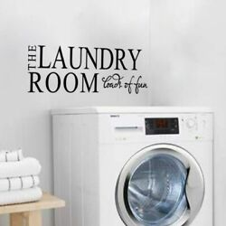 The Laundry Room Wall Door Sticker For Home Decoration Wall Decal black
