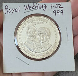 1 Troy Oz .999 Silver July 29 1981 Royal Wedding The And Princess Of Wales
