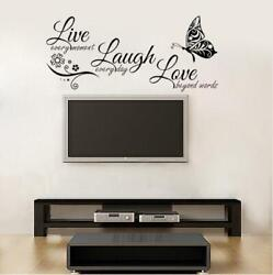 Live Laugh Love beyond words Wall Sticker Decoration Wall Decal black
