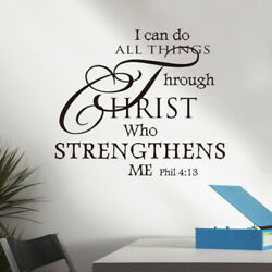 I Can Do All Things Through Christ Wall Sticker Decoration Wall Decal black