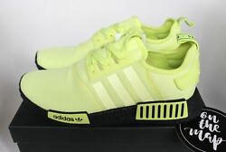 Adidas Nmd R1 Glow Volt Green Black Boost Rare Unreleased Sample Uk 8.5 Us 9 New