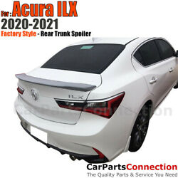 Primer Rear Trunk Spoiler For 20-21 Acura Ilx Flush Mount Factory Style Primered