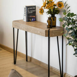 Rustic Console Table Wood 42 Long Slim Entry Hall Sofa Foyer Hairpin Legs Us