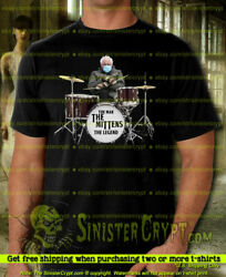 Bernie Sanders t shirt The Mittens funny playing drums Meme Small to 6XL