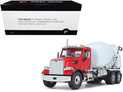 Peterbilt 567 With Mcneilus Standard Mixer Red And White 1/34 Diecast First Gear