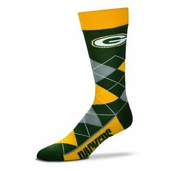 Green Bay Packers Argyle Socks Crew Length One Size Fits Most New
