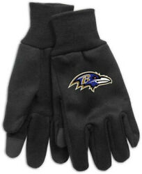 Baltimore Ravens Technology Gloves New Free Ship One Size Fits Most
