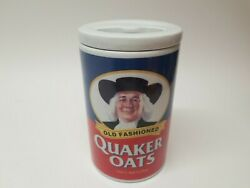 Old Fashioned - Quaker Oats Brand Ceramic Cookie Jar / Canister, Vintage Mint A+