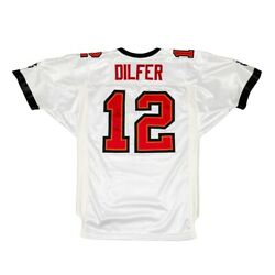 Vtg Tampa Bay Buccaneers 12 Dilfer Adidas Signed Authentic Jersey. Size 46