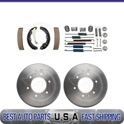 Raybestos Rear Brake Drums And Brake Shoes And Hardware Kit For 1981-1988 Audi 5000