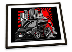 Honda Civic Type R Car Framed Art Print Picture Poster Artwork