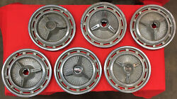 1960's Chevrolet Impala Chevy Ss 14 Spinner Wheel Cover Hubcaps Lot Of 6