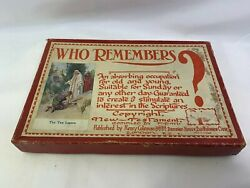 Vintage Who Remembers New Testament Bible Learning Card Game Very Rare