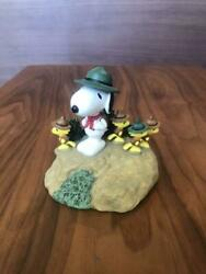 Snoopy KATO KOGEI Pottery Figurine Beagle Scout SNOOPY amp; WOODSTOCK