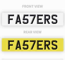 Fasters Private Number Plate Fa57 Ers Fast Funny Cool Short Reg Boss 911 Race Rs
