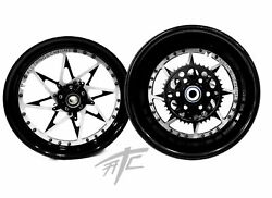 Cbr1000rr Stock Size Black And Silver Switchback Wheels 2008-2011 Cbr1000rr