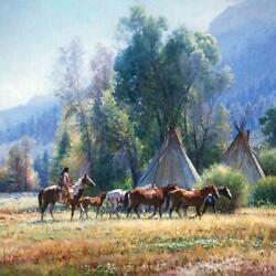 Martin Grelle Back From The River Giclee On Canvas Signed And Numbered