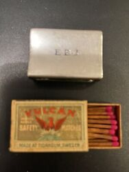 Vintage Sterling Silver .925 Matchbox Cover And Matchbox