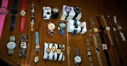 Sale 30+ Vintage To Contemporary Watches W/1964 Barbie/old Ladies Elgin Gold