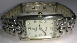 Solid 14k White Gold Vicence Womens Watch 44.93 Grams - 7 Wrist