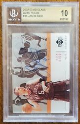 2002-03 Ud Glass Auto Focus Jason Kidd Jk.....rare.....it's The Only Bgs 10