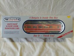 Williams O-31 Gauge 60' Luxury Liner Passenger Car Southern Pacific Daylight
