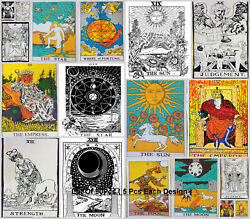 Wholesale Price Lot Of 90pcs Poster Tarot Card Cotton Small Tapestry Indian Art