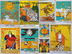 Lot Of 90 Pcs Poster Tarot Card Wholesale Price Cotton Small Tapestry Indian Art
