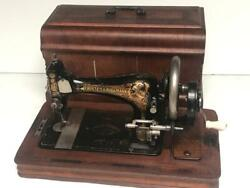 Antique Frister And Rossmann Hand Crank Sewing Machine Sold By Harrods [6805]