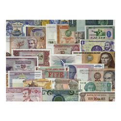 World Paper Money Collection Set Of 100 Banknotes In Choice Uncirculated Condit