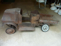 Vintage Rare 1920and039s Steelcraft Mack Dump Truck Pedal Car