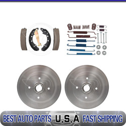 Raybestos Rear Brake Drums And Brake Shoes And Hardware Kit For 1981-1983 Audi Coupe