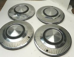 1963-64 Plymouth Valiant 13-inch Hubcap Wheelcovers Vintage Oem Lot Of 4 Used
