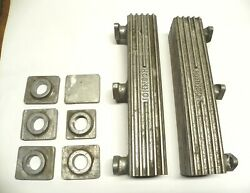 Vintage Ford Johnson V8-60 Wood Boat Aluminum Exhaust Manifolds W/extra Parts