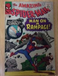 Amazing Spiderman 32 1965 Solid Vg Aunt May Dying,dr.ock With Life Saving Serum