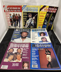 Lot Of 7 Vintage Record Review Magazines - From 70s And 80s - Rock N Roll Music