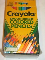 New Crayola Smooth Bright Colored Pencils 6 Boxes Of 24 Pencils Each Sealed