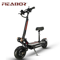 Fieabor 5600w/60v Two Wheel 11in Dual Motor Folding Electric Kick Scooter New